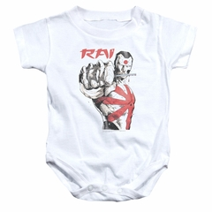 Rai Valiant Comics Baby Romper Sword Drawn White Infant Babies Creeper