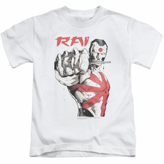 Rai Valiant Comics Kids Shirt Sword Drawn White T-Shirt