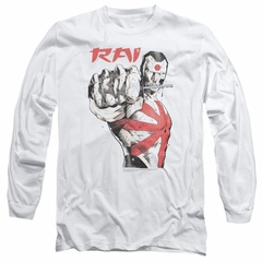 Rai Valiant Comics Long Sleeve Shirt Sword Drawn White Tee T-Shirt