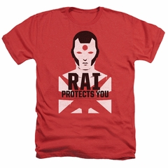 Rai Valiant Comics Shirt Protector Heather Red Tee T-Shirt