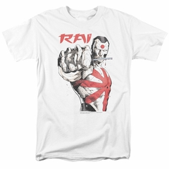 Rai Valiant Comics Shirt Sword Drawn White T-Shirt