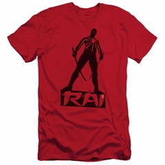 Rai Valiant Comics Slim Fit Shirt Silhouette Red Tee T-Shirt