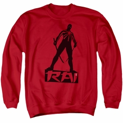 Rai Valiant Comics Sweatshirt Silhouette Adult Red Sweat Shirt