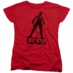 Rai Valiant Comics Womens Shirt Silhouette Red Tee T-Shirt