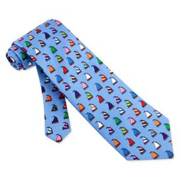 Rainbow Fleet Tie Blue Silk Necktie - Mens Occupational Neck Tie