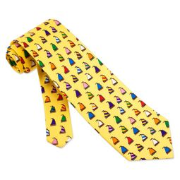 Rainbow Fleet Tie Yellow Silk Necktie - Mens Occupational Neck Tie