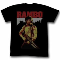 Rambo Shirt Real Rambo Adult Black Tee T-Shirt