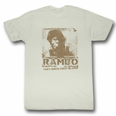 Rambo Shirt They Drew First Blood Off White T-Shirt