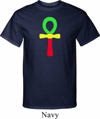 Rasta Ankh Mens Tall Shirt