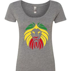 Rasta Lion Head Ladies Shirts