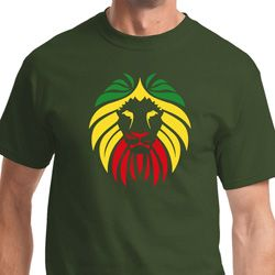 Rasta Lion Head Mens Shirts