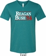 Reagan Bush 1984 Mens Tri Blend V-neck Shirt