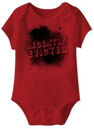 Recently Evicted Funny Baby Romper Red Infant Babies Creeper