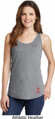Red Anchor Patch Bottom Print Ladies Tank Top