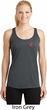 Red Anchor Patch Pocket Print Ladies Dry Wicking Racerback Tank Top