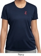 Red Anchor Patch Pocket Print Ladies Moisture Wicking Shirt