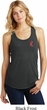 Red Anchor Patch Pocket Print Ladies Racerback Tank Top