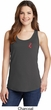 Red Anchor Patch Pocket Print Ladies Tank Top