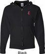 Red Anchor Patch Pocket Print Mens Full Zip Hoodie
