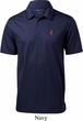 Red Anchor Patch Pocket Print Mens Textured Polo Shirt