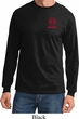 Red Dodge Ram Logo Pocket Print Long Sleeve