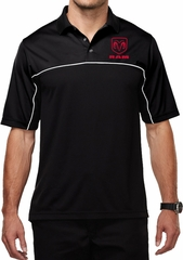 Red Dodge Ram Logo Pocket Print Mens Polo Shirt