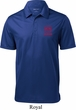 Red Dodge Ram Logo Pocket Print Mens Textured Polo Shirt