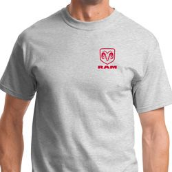 Red Dodge Ram Logo Pocket Print Shirts