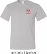 Red Dodge Ram Logo Pocket Print Tall T-Shirt
