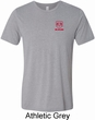 Red Dodge Ram Logo Pocket Print Tri Blend Tee