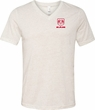 Red Dodge Ram Logo Pocket Print Tri Blend V-neck
