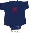 Red Dodge Ram Logo Small Print Baby Romper
