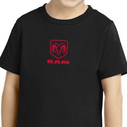 Red Dodge Ram Logo Small Print Shirts