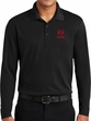 Red Dodge Ram Pocket Print Mens Racer Mesh Long Sleeve Polo Shirt