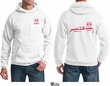 Red Dodge Ram Silhouette (Front & Back) Hoodie