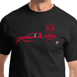 Red Dodge Ram Silhouette Shirts