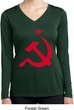 Red Hammer and Sickle Ladies Dry Wicking Long Sleeve Shirt