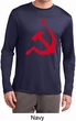 Red Hammer and Sickle Mens Dry Wicking Long Sleeve Shirt