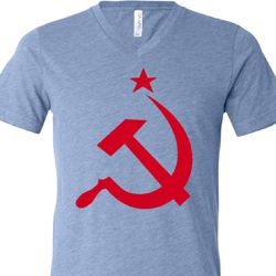 Red Hammer And Sickle Mens Shirts