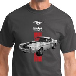 Red Stripe Mustang 50 Years Shirts