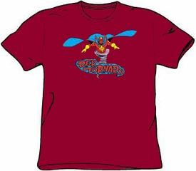 Red Tornado T-shirt - Red Tornado DC Comics Adult Cardinal Red Tee