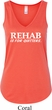 Rehab Is For Quitters Ladies Flowy V-neck Tanktop