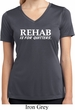 Rehab Is For Quitters Ladies Moisture Wicking V-neck Shirt
