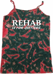 Rehab Is For Quitters Ladies Tie Dye Camisole Tank Top