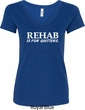 Rehab Is For Quitters Ladies V-Neck Shirt
