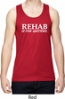 Rehab Is For Quitters Mens Moisture Wicking Tanktop