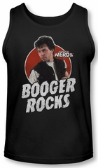 Revenge Of The Nerds Tank Top Booger Rocks Black Tanktop