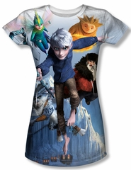 Rise Of The Guardians Together Now Sublimation Juniors Shirt
