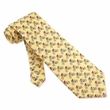Road Race Tie Yellow Silk Necktie - Mens Sports Neck Tie