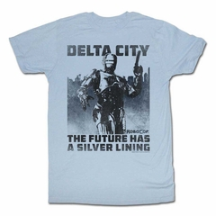 Robocop Shirt Delta City Light Blue T-Shirt